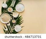 image of homemade cosmetics...   Shutterstock . vector #486713731