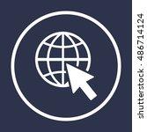 website  icon vector. flat... | Shutterstock .eps vector #486714124