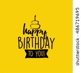 happy birthday label   Shutterstock .eps vector #486719695