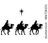 three wise men | Shutterstock .eps vector #486728101