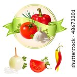 label for a product  ketchup ... | Shutterstock .eps vector #48673201