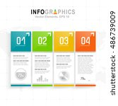 white infographics set with... | Shutterstock .eps vector #486739009