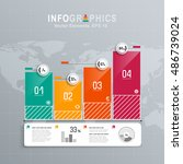 white infographics set with... | Shutterstock .eps vector #486739024
