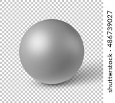 white abstract sphere  ball ... | Shutterstock .eps vector #486739027