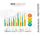 white infographics set with... | Shutterstock .eps vector #486743509