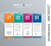 white infographics set with... | Shutterstock .eps vector #486743527