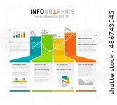 white infographics set with... | Shutterstock .eps vector #486743545