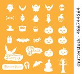 halloween icon sets vector | Shutterstock .eps vector #486744364