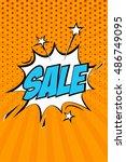 sale vector design with cartoon ... | Shutterstock .eps vector #486749095