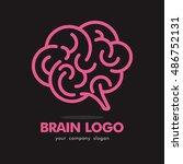 brain idea creative logo icon... | Shutterstock .eps vector #486752131