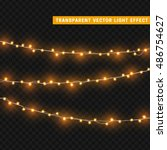 christmas lights isolated... | Shutterstock .eps vector #486754627