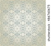 seamless floral and geometric... | Shutterstock .eps vector #486760675