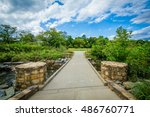 walkway and little sugar creek... | Shutterstock . vector #486760771