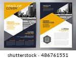 business brochure flyer design... | Shutterstock .eps vector #486761551