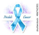 blue ribbon prostate cancer | Shutterstock . vector #486762301