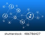 social media communication | Shutterstock . vector #486786427