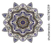 abstract ethnic colored mandala ... | Shutterstock .eps vector #486789259