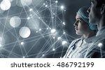 innovative technologies in... | Shutterstock . vector #486792199