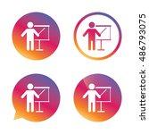 presentation sign icon. man... | Shutterstock .eps vector #486793075
