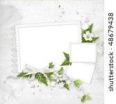 delicate white frame for three... | Shutterstock . vector #48679438