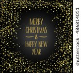 postcard merry christmas and... | Shutterstock .eps vector #486814051