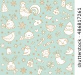 Christmas Doodle Pattern. Happy ...