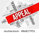 appeal word cloud concept | Shutterstock . vector #486817951