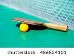 details of pingpong table with... | Shutterstock . vector #486824101