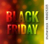 black friday background.... | Shutterstock .eps vector #486825205