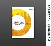 business brochure cover design... | Shutterstock .eps vector #486825691