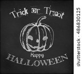halloween poster design   hand... | Shutterstock .eps vector #486830125