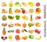 fruit collection | Shutterstock . vector #48683503