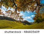 october autumn scenery in... | Shutterstock . vector #486835609