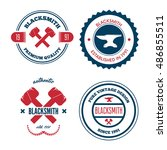 collection of logo  elements...   Shutterstock .eps vector #486855511