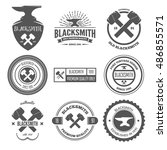 collection of logo  elements... | Shutterstock .eps vector #486855571