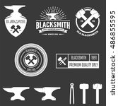 collection of logo  elements... | Shutterstock .eps vector #486855595