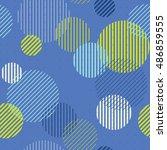 striped circles seamless...   Shutterstock .eps vector #486859555