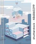 room in the building | Shutterstock .eps vector #486860299
