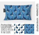 design vector pillow  cushion . ... | Shutterstock .eps vector #486861151