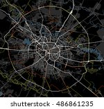 black and white map of... | Shutterstock .eps vector #486861235