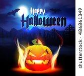 halloween.  | Shutterstock .eps vector #486861349