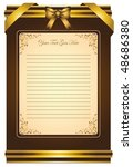 greeting card. vector vintage... | Shutterstock .eps vector #48686380