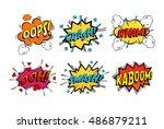 onomatopoeia comicsspeech...   Shutterstock .eps vector #486879211