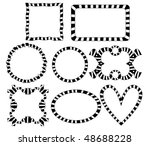 striped frames collection | Shutterstock . vector #48688228