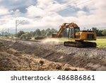 repairing the railway line ... | Shutterstock . vector #486886861