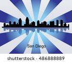 san diego  california skyline.... | Shutterstock .eps vector #486888889