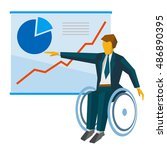 disabled businessman in... | Shutterstock .eps vector #486890395