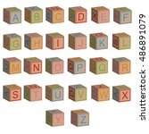 toy blocks alphabet letters in...