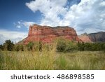 sedona canyons  arizona with... | Shutterstock . vector #486898585