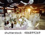 amazing luxury decorated place... | Shutterstock . vector #486899269